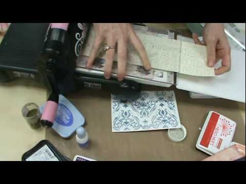 Scrapbooking Made Simple uses the NEW Ink Its Letter Press Plates by Sizzix