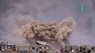 مراسل بلدي نيوز يرصد سقوط صواريخ الفيل بشكل مكثف على حي القابون في دمشق 2017/4/17