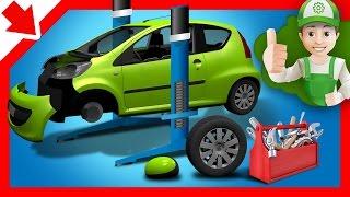 Cartoon for kids. Handy Andy car repairs - Little Smart Kids