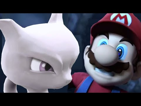 Super Smash Bros 4 All Cutscenes All Character Trailers Wii U and 3DS 【1080p HD】 Mewtwo
