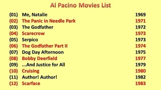 Al Pacino Movies List