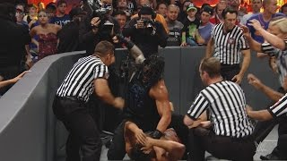 WWE SUMMERSLAM 2016: ROMAN RIEGNS VICIOUSLY ATTACKS RUSEV BEFORE THE MATCH