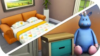 THE SIMS 4 // SPEED BUILD | SINGLE PARENT STARTER — TODDLER ROOM + PULL OUT COUCH!