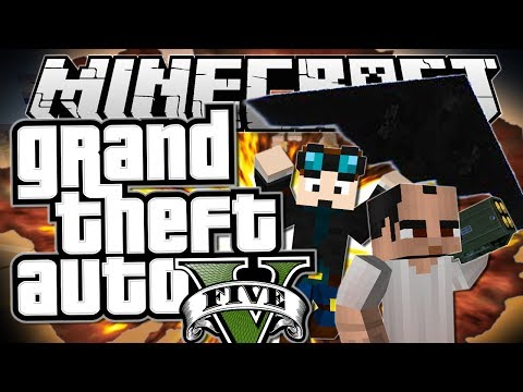 Minecraft Grand Theft Auto GTA STEALING A STEALTH BOMBER Mods Showcase Funny Moments