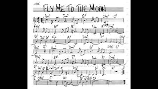 Fly me to the Moon  Play along - Backing track [3/4 score] (C key score violin/guitar/piano)