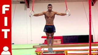 19 YEAR OLD RINGS GYMNAST TRAINS TO WIN