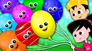 Rainbow Balloons Song | Learn Colors | Colors Song | Nursery Rhymes Song For Kids