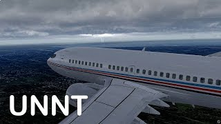 Prepar3D v4 - PMDG 737-700 ILS approch UNNT in heavy thunderstorm