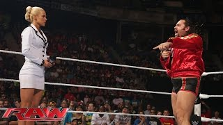 Rusev blames Lana for his loss to John Cena at WWE Payback: Raw, May 18, 2015