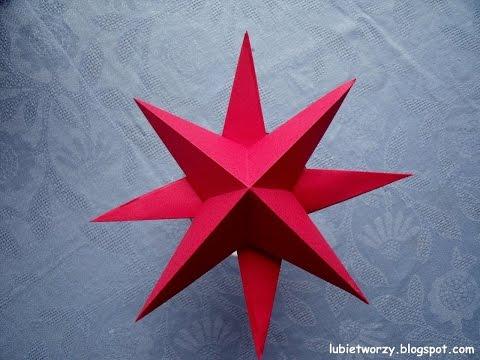Lubię Tworzyć Papierowa gwiazdka na choinkę