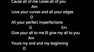 JOHN LEGEND - ALL OF ME (LYRICS AND CHORDS)
