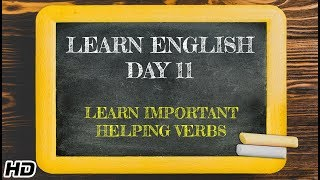 Learn English -Day 11 | English Learning In 12 days | Fun way to Learn Important Helping Verbs