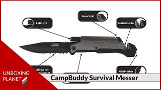 Survival Messer CampBuddy 5 in 1 - Unboxing Video