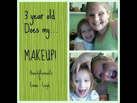 3 year old Does my makeup!