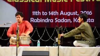 Shubh Maharaj Tabla Solo on 12th August 2016 in Sangeet Piyasi Concert at Rabindra Sadan, Kolkta
