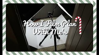 HOW I FILM PLAN WITH ME'S ❄ VLOGMAS DAY 13