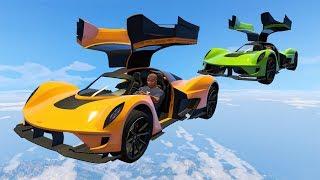 NEW FLYING CAR TECHNIQUE?! (GTA 5 Funny Moments)