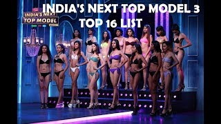 MTV India's Next Top Model SEASON 3 Contestants list | Top 16