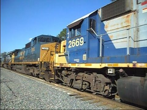 CSX Train 7 Units 123 Cars Long