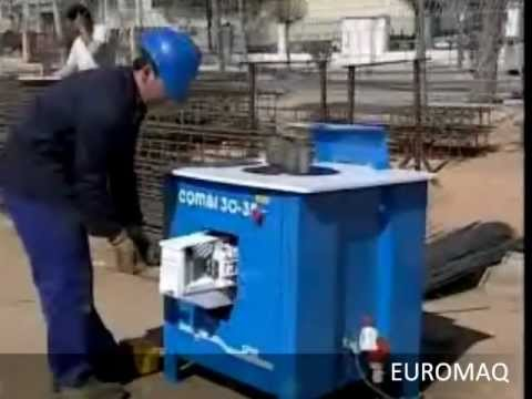 EUROMAQ VIDEO DE LA CORTADORA Y DOBLADORA DE VARILLA SIMA