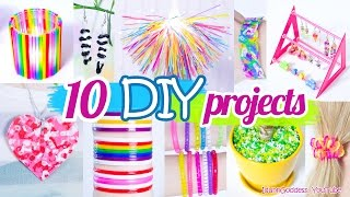 10 DIY Projects With Drinking Straws – 10 New Amazing Drinking Straw Crafts and Life Hacks