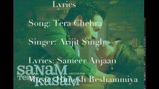 Sanam Teri Kasam Tera Chehra Arjit Singh 2016 Lyrics