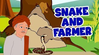 Snake And Farmer - English Stories For Kids | Moral Stories In English | Short Story In English