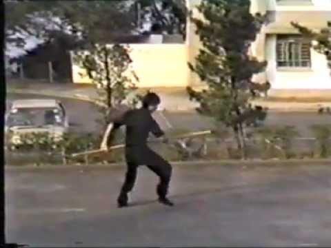 袁康就:蔡李� �龍行棍 1982 Choy Lay Fut Whirling Staff by HC Yuen