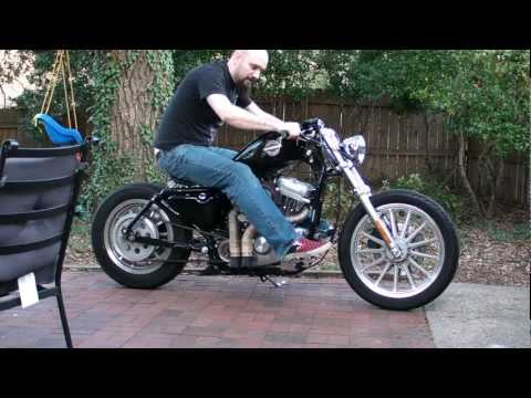 Sportster Bolt on bobber with Sikpipes