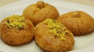 Moist Semolina Cookies - Turkish Shekerpare Dessert Recipe
