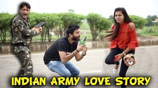 LOVE STORY OF AN INDIAN ARMY | BakLol Video |