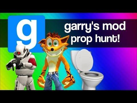 Gmod Prop Hunt Funny Moments 3 Magic Short Bus Crash Bandicoot Secret Room Garry s Mod Fun
