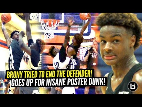 Bronny James AINT SCARED OF CHICAGO S TOUGHEST TEAM Goes Up For INSANE POSTER DUNK