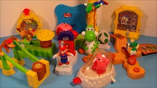 2002 NINTENDO SUPERSTARS SET OF 10 BURGER KING KID'S MEAL TOY'S VIDEO REVIEW