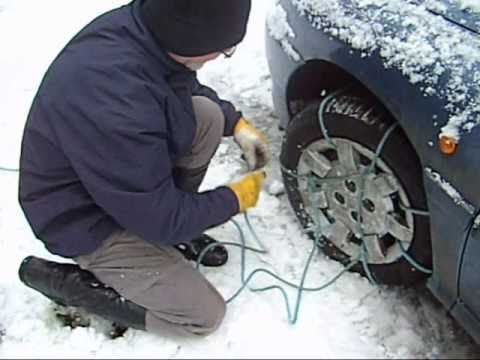 Snow Chain Alternative Snow Rope a cheap effective alternative to Snow Chains.wmv