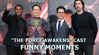 """Star Wars: """"The Force Awakens"""" Cast Funny Moments - Episode I (PART 1)"""