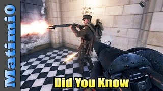 Did You Know - Battlefield 1