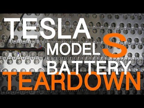 TESLA MODEL S BATTERY TEARDOWN