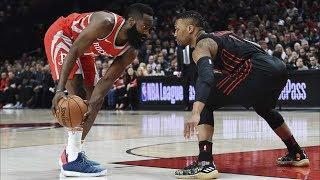 Harden 42 Pts! Rockets End Blazers 13 Win Streak! 2017-18 Season