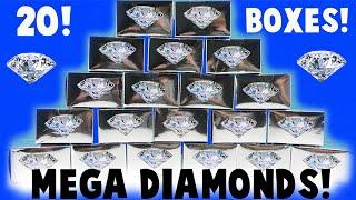 MEGA MEGA Diamond Dig It Unboxing! 20 Boxes! Did I Find a Diamond?
