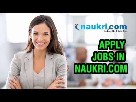 how to apply job in naukri com