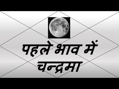पहले भाव में चन्द्रमा (Moon in 1st House) | Vedic Astrology | हिंदी (Hindi)