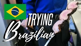 TRYING BRAZILIAN FOOD !!!