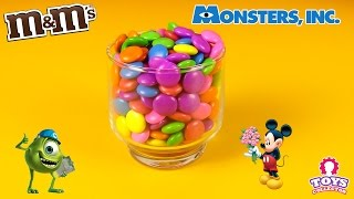 M&M's Surprise Toys Hide & Seek - monster inc and Mickey Mouse