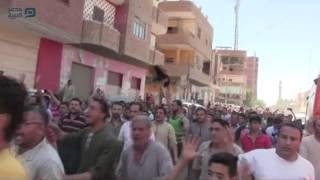 مصر العربية   مظاهرة لأقباط المنيا تنديدًا بحادث أتوبيس الأقباط