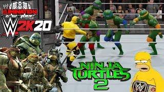 Teenage Mutant Ninja Turtles 2 VS Homero Simpson - (WWE World Heavyweight Championship)