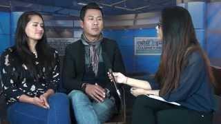 Singer Raju Gurung & Actress  Ranjita Gurung in Everest Channel