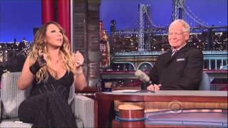 Magical Mariah Carey on David Letterman 5 7 14