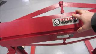 Harbor Freight 36 inch Metal Brake review (unsponsored)