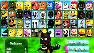 FNaF WORLD Multiplayer All 48 Characters Unlocked (All Animatronics)